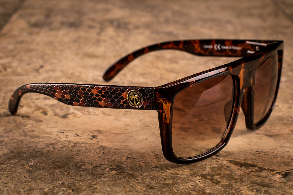 Heat Wave Visual Regulator Rattle Snake custom sunglasses