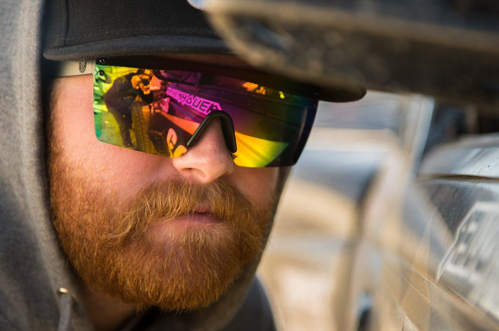 Lazer Face Sunglasses: Savage Spectrum Z.87+