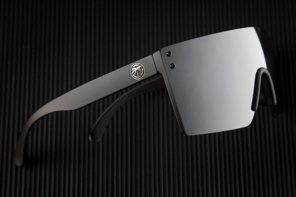 Lazer Face Sunglasses: Silver Mirror Z.87+