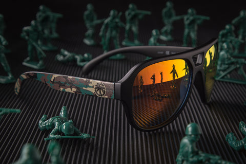 Supercat 1.5 Sunglasses: Woodland Camo Customs
