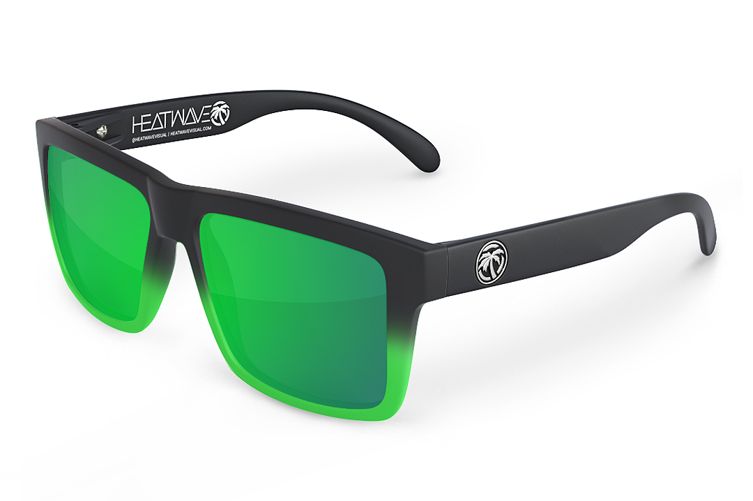 VISE Sunglasses: Moto Green FADER