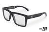 VISE Z87 Black Sunglasses: CLEAR Lens