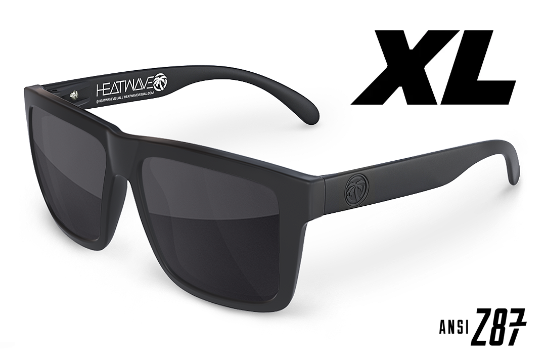 XL VISE Z87 Sunglasses: Black Frame