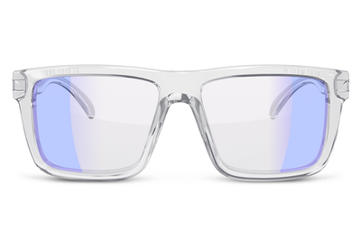 XL VISE Z87 Sunglasses Vapor Clear Frame: Blue Light Blocking Setup