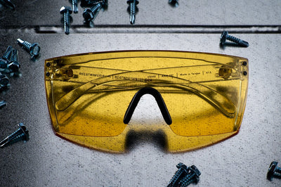 Lazer Face Glasses: HI-VIS YELLOW Z.87