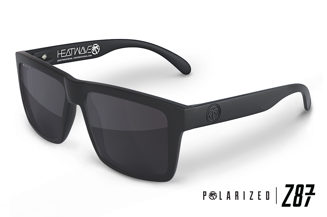 VISE Z87 Sunglasses Black Frame: Polarized Tinted Lens