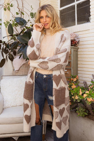 EnCreme | Heart Knit Cardigan