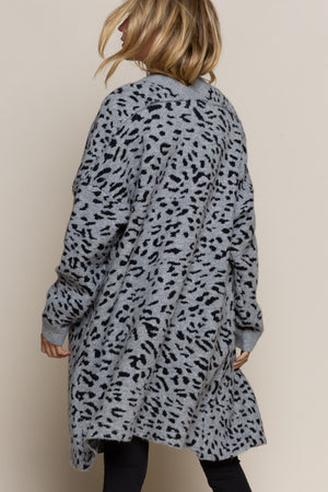 Jagger | Leopard Cardigan (Grey/Black)