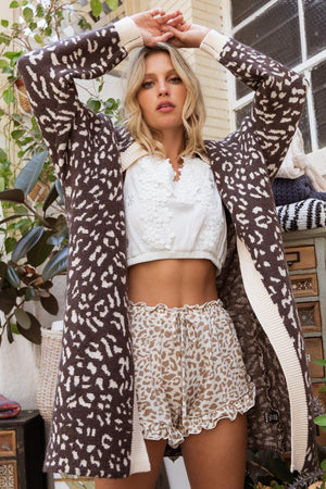 Jagger | Leopard Cardigan (Brown/Cream)