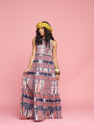 Roman Rain | Maxi Dress - PepperLilly
