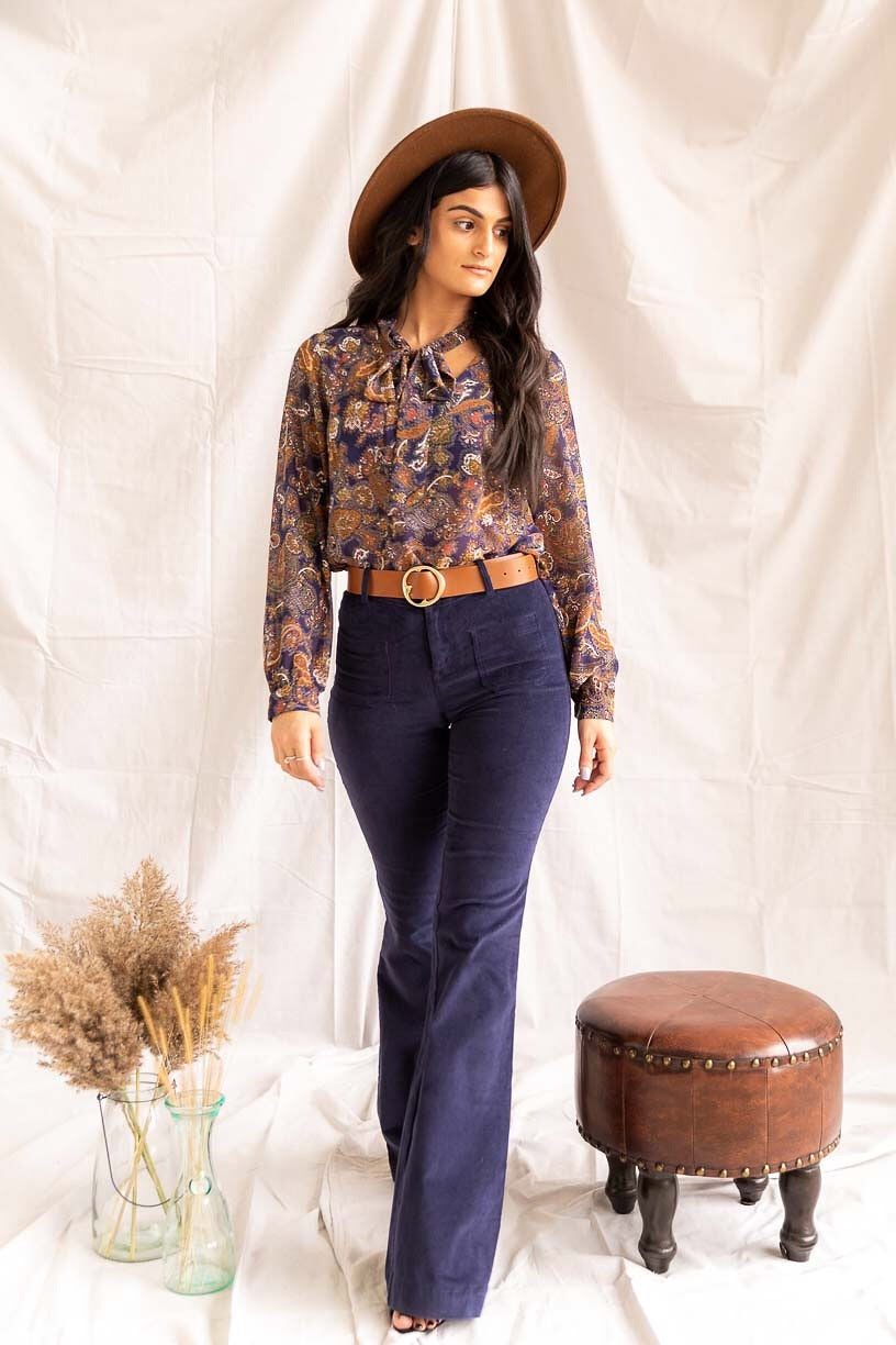 Southern Belle | Bell Bottoms (Navy) - PepperLilly