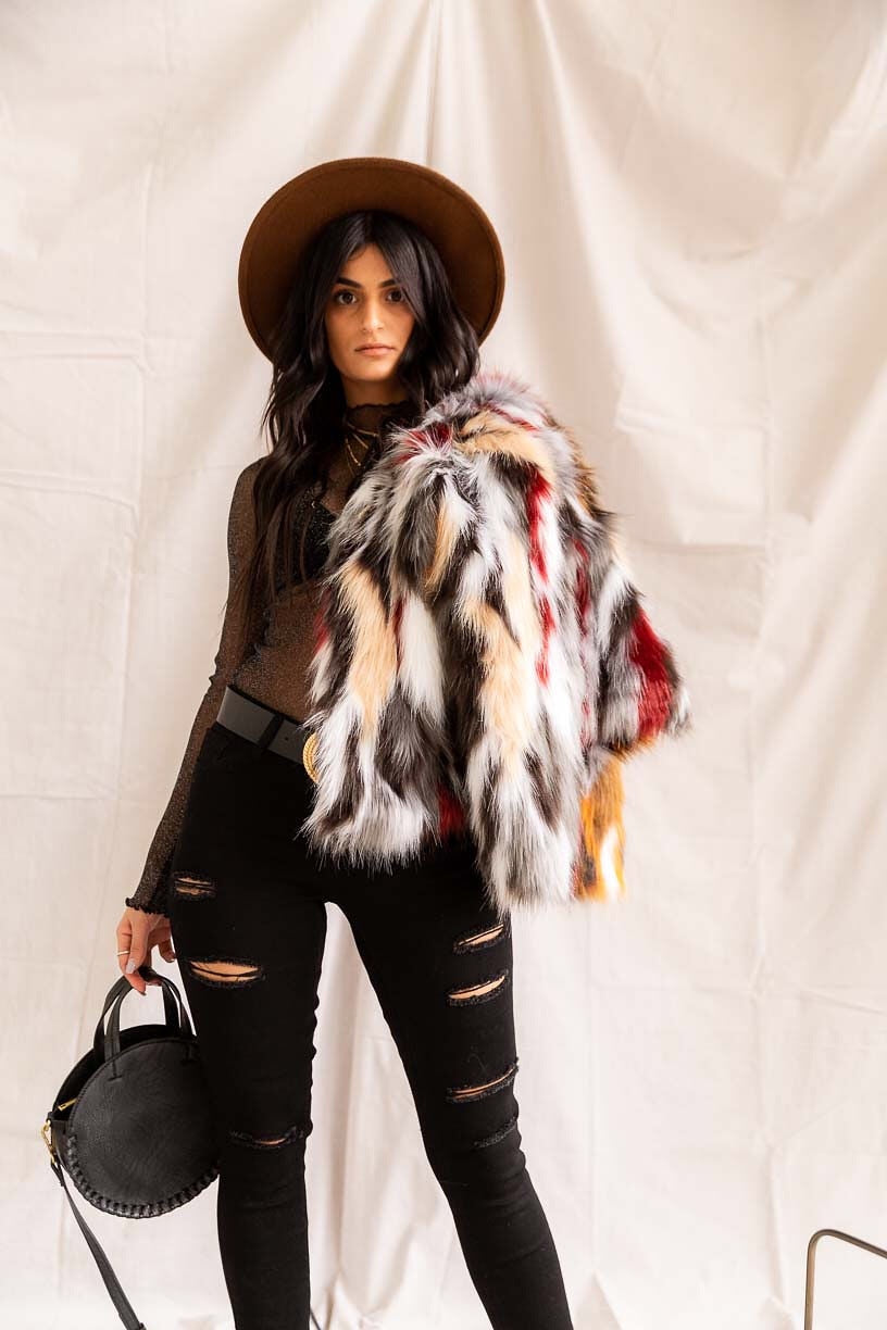 Fox Tales | Faux Fur Jacket - PepperLilly