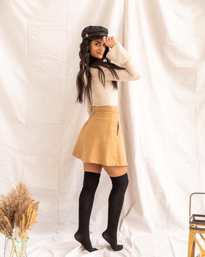 Warm Desert Sand | Flare Skirt - PepperLilly