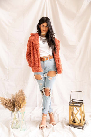 Hayden's Bonfire | Faux Fur Coat - PepperLilly