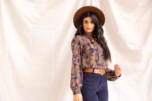 Starry Nights | Paisley Top (Navy) - PepperLilly