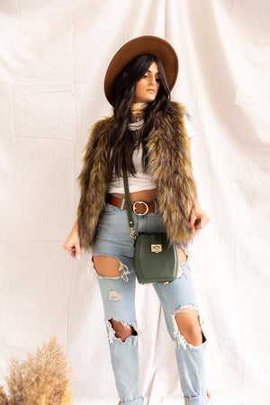 Riding Hood | Faux Fur Vest - PepperLilly