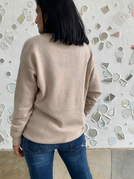 Pure Cashmere Grace Jumper - Oatmeal