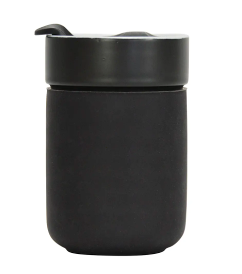Ceramic Coffee / Tea Travel Cup - Black