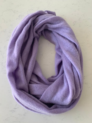 Pure Cashmere Scarf - Lilac