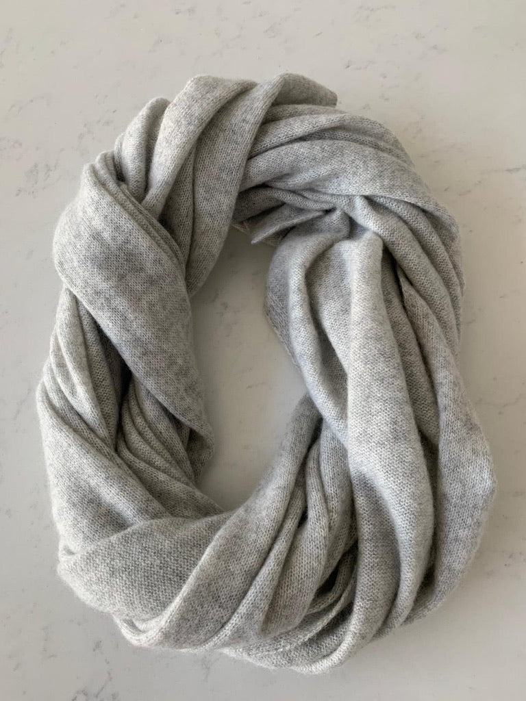 Pure Cashmere Scarf - Dove Grey