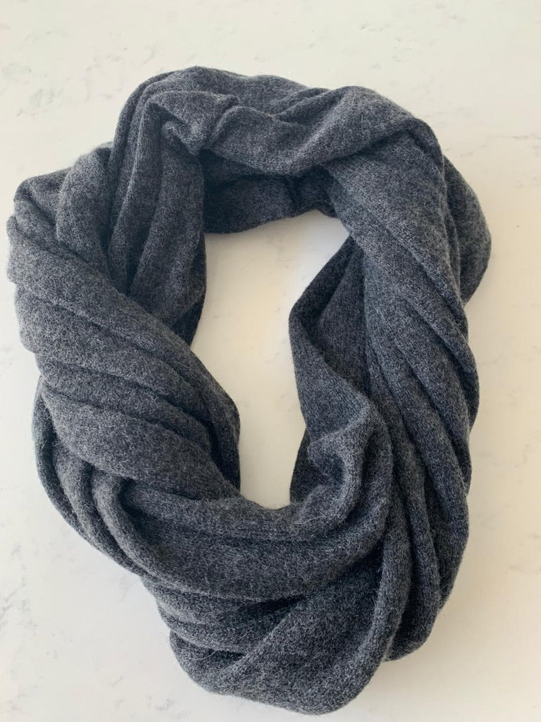 Pure Cashmere Scarf - Charcoal