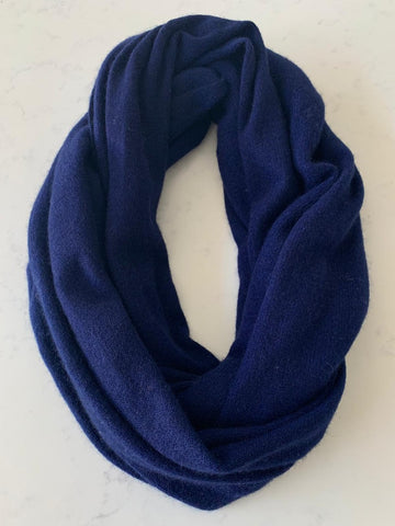 Pure Cashmere Scarf - French Navy