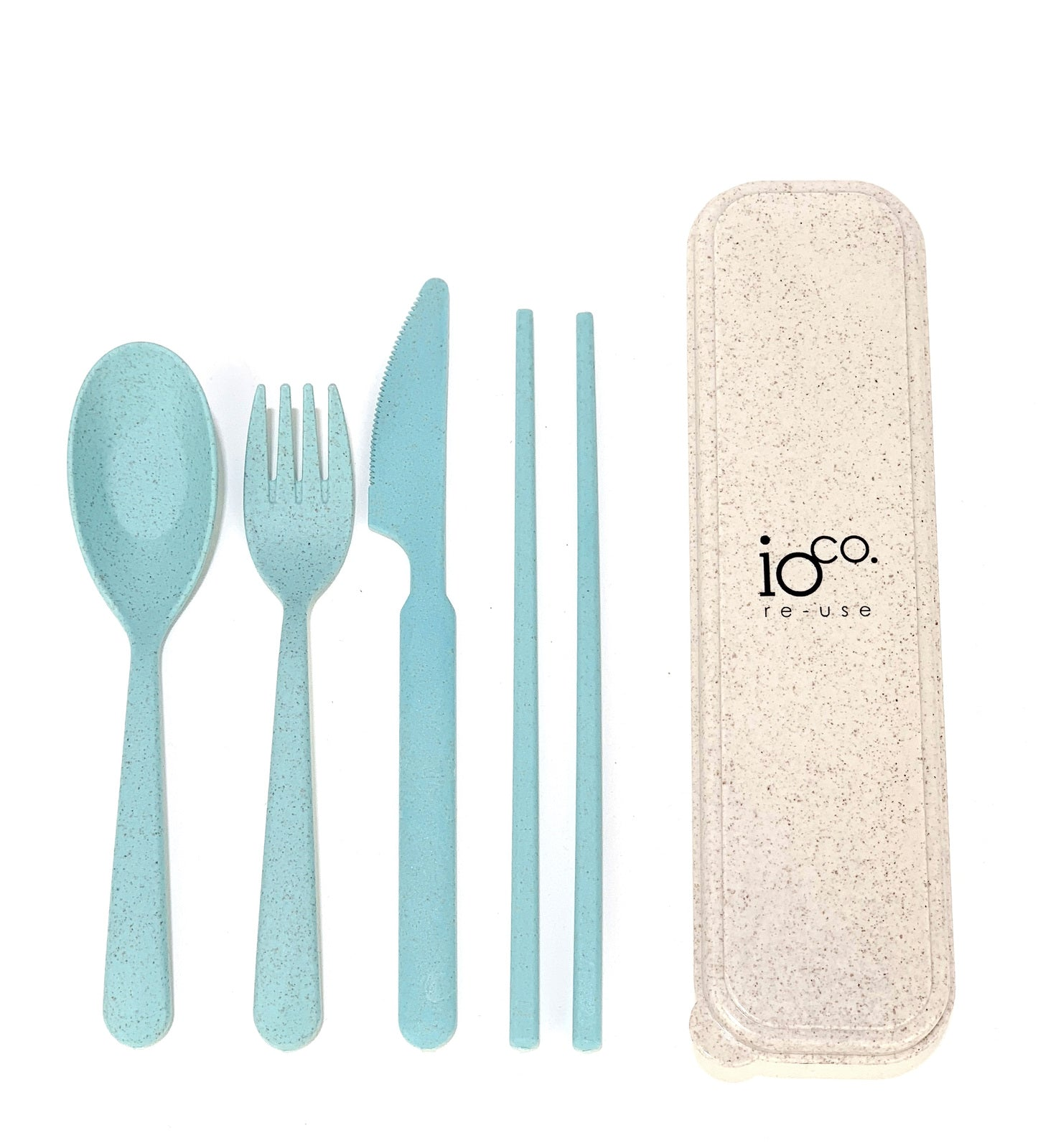 Reusable Cutlery Set - Aqua