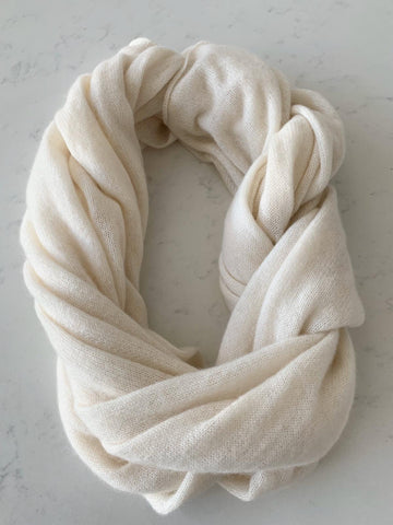 Pure Cashmere Scarf - Ivory