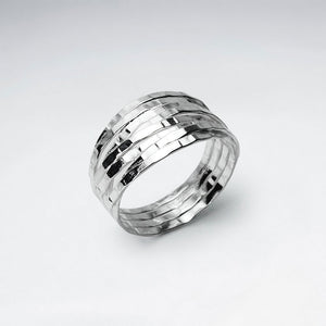 Stacked Illusions Ring - Size 8