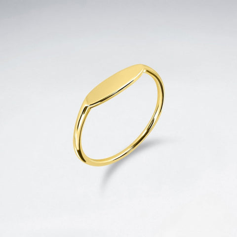 Oval Signet Ring - Size 8 - Gold