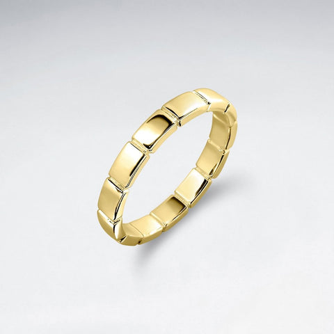 Lined Geometric Ring - Size 8 - Gold