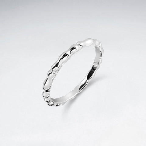 Bamboo Ripple Ring - Size 8