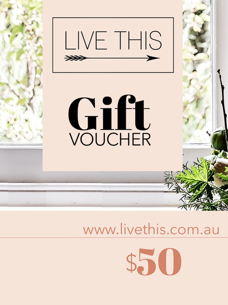LIVE THIS Gift Voucher