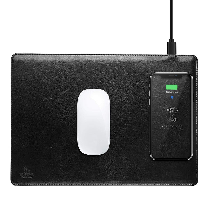 DUX DUCIS C4 2 in 1 PU Leather Wireless Charger Mouse Pad