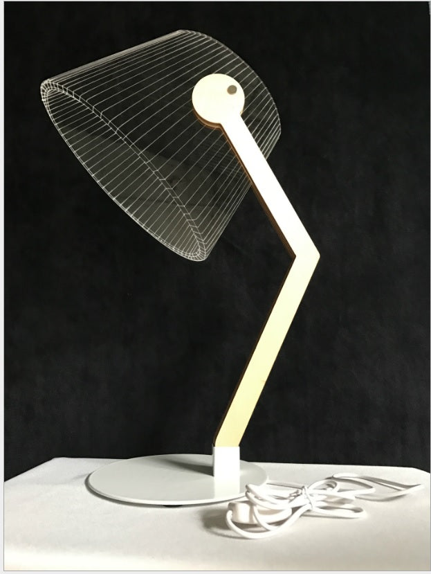 3D Table Lamp With Curved Stand