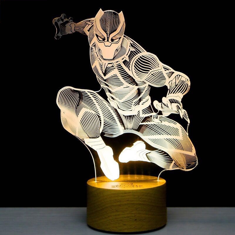 Marvel Dolls Desktop LED 3D Lights - Black Panther