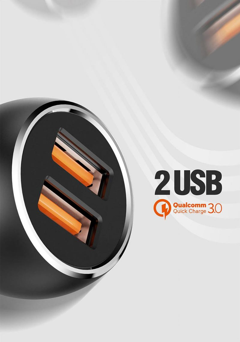 LDNIO C503Q Dual USB QC3.0 Car Charger with Type-C USB Cable
