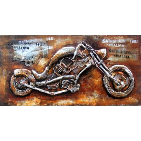 3D Wall Art Hand Painted - Motorbike