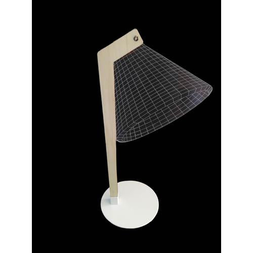 3D Table Lamp With Straight Stand