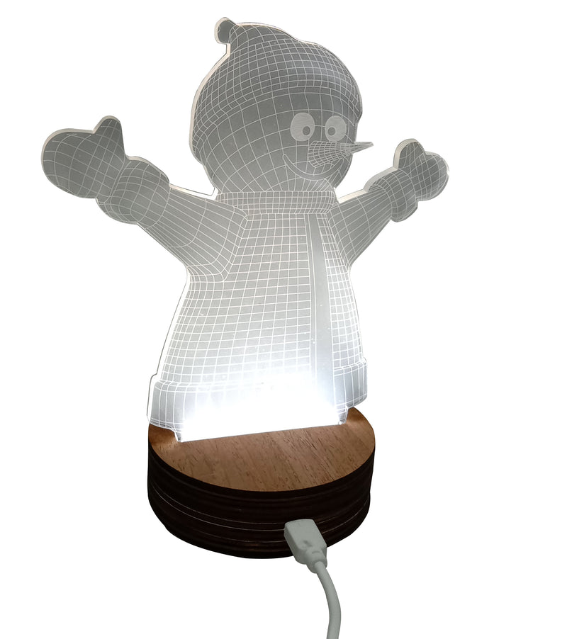 3D Lamp For Snowman Design