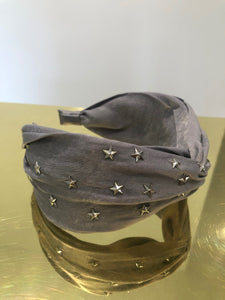 Silver Metal Star Embellished Headband