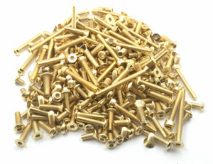 T-WORKS Gold Plated Steel Screw Set 188pcs. ( For Team Associated RC8 B3.2 ) #GSS-RC8B3.2