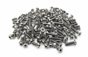 (PREORDER ITEM)T-WORKS Grade-64 Titanium Screw set ( UFO Head ) 131pcs. ( For Tamiya Formula E Gen2 Car TC-01 ) #TSSU-TC01