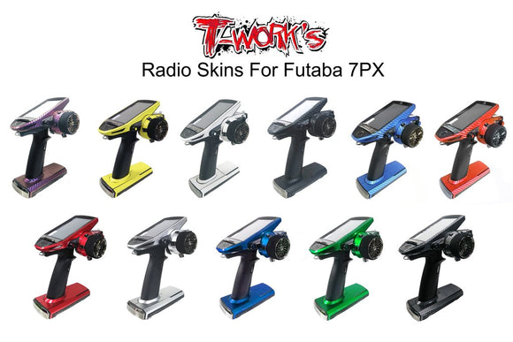 (PREORDER ONLY)T-WORKS CHROME RADIO WRAP FOR FUTABA 7PX/7PXR#TS-040M