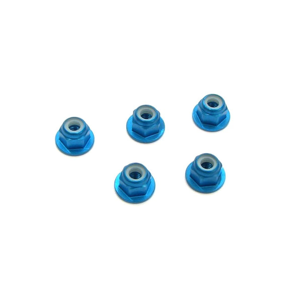 T-WORKS Aluminium Flange LockNuts 3mm (5pcs) #ASS-3FLN