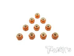 T-WORKS Aluminium LockNuts 3mm 10pcs. #ASS-3LN