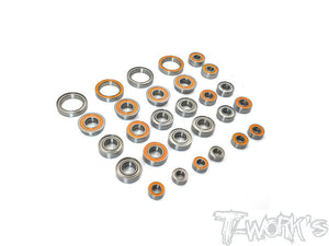 T-WORKS Precision Ball Bearing Set ( For TENKO EB48 2.0 ) 28pcs. #BBS-EB482.0