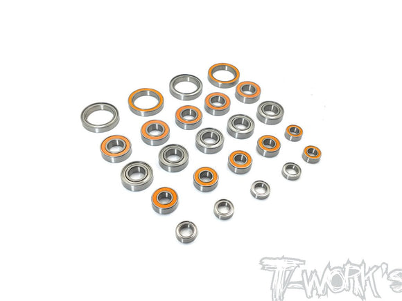 T-WORKS Precision Bearing Kit For Mugen MBX8/MBX8T(24pcs.) #BBS-MBX8