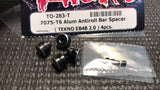 T-WORKS 7075-T6 Aluminum sway Bar collar set ( TEKNO NB/EB48 2.0 ) 4pcs. #TO-283-T