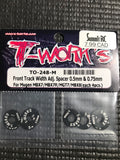 T-WORKS Front Track Width Adj. Spacer For Mugen MBX7/7R/MGT7/MBX8 (8 pcs)  #TO-248-M